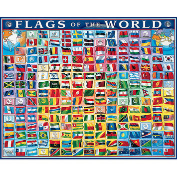 Taylor Gifts Flags Of The World 1000 Pc Puzzle