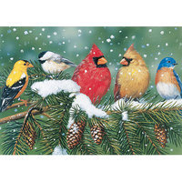 White Mountain Puzzles Cardinals and Friends 550 Piece Puzzle