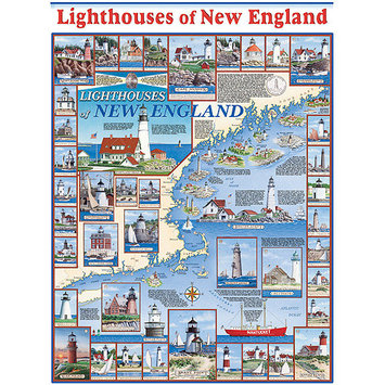 Taylor Gifts Lighthouses of New England 1000 Piece Puzzle