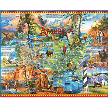 Taylor Gifts White Mountain Puzzles National Parks (1000 pc)