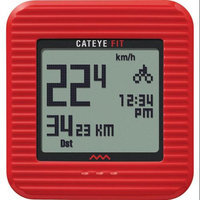 CatEye Fit Wireless Bicycle Computer/Walking Pedometer - CC-PD100W (Red)