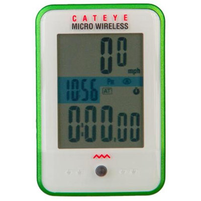 CatEye Micro Wireless Computer White/Green, One Size