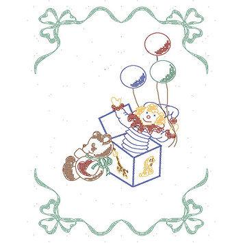 Fairway Needlecraft Co. Stamped Baby Quilt Top 36