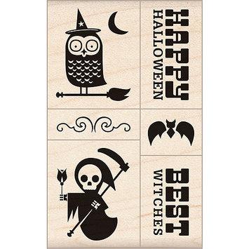 Inkadinkado Halloween Mounted Rubber Stamp 2.75