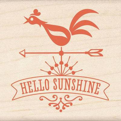 Inkadinkado Mounted Rubber Stamp 2.25inX2.25inHello Sunshine