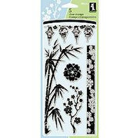 Sams Club Inkadinkado Clear Stamps-Asian By Design-5pc