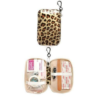 Taylor Gifts Gold Leopard Personal First Aid Emergency Kit