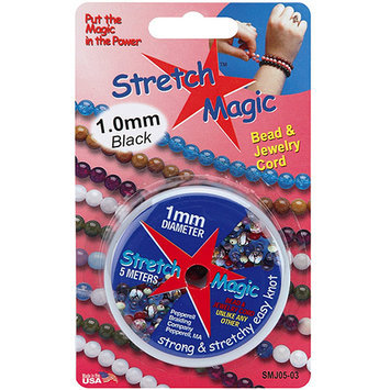 Pepperell SMJ-0516 Stretch Magic Bead and Jewelry Cord 1mm 5 Meters-Pkg-Glitter Silver