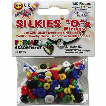 Pepperell SILKY05 Silkies inchO inch Rings 150-Pkg-Assorted Color-Size