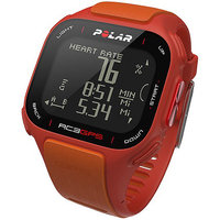 Polar RC3 GPS with Heart Rate Monitor, Red/Orange