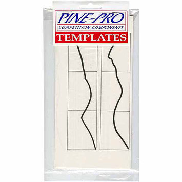 Pinepro Pine Car Derby Templates W/Number Decal Set
