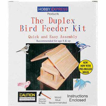 Pinepro Duplex Bird Feeder Kit, Unfinished