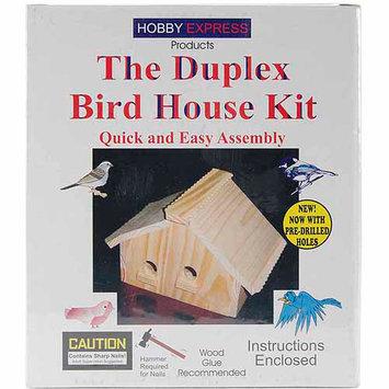 Pinepro Duplex Wood Bird House Kit - Unfinished