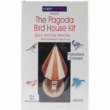 Pinepro Pagoda Wood Bird House Kit, Unfinished