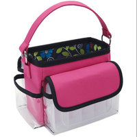 Mackinac Moon Mini Storage Tote with 2 Plastic Cases - Pink