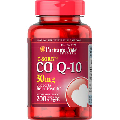 Puritan's Pride 2 Units of Co Q-10 30 mg-200-Softgels