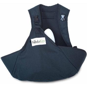 KoalaKin, Hands Free Nursing Vest Pouch - Black/Green - Vest Size Small/Pouch Size M/L