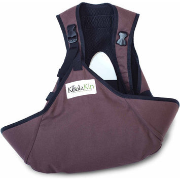 KoalaKin, Hands Free Nursing Vest Pouch - Chocolate Brown - Vest Size Small/Pouch Size XS/S