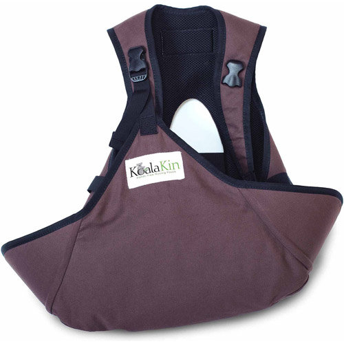Mamma-kin KoalaKin, Hands Free Nursing Pouch - Chocolate Brown - Vest Size Small/Pouch Size M/L