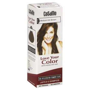 CoSaMo Love Your Color Non-permanent 777 Medium Ash Brown Hair Color (Pack of 4)
