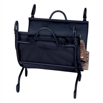 Blue Rhino Uniflame Ring Swirl Black Log Rack With Canvas Carrier