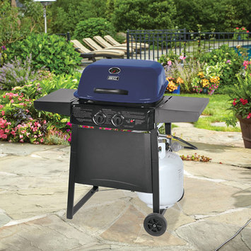 Backyard Grill 2-Burner Gas Grill, Blue