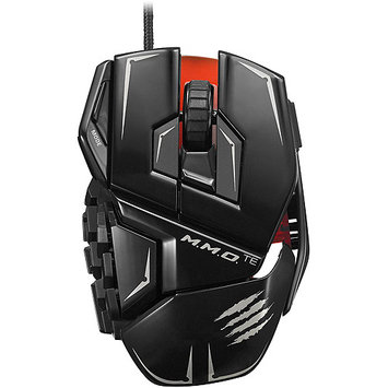 Tritton Mad Catz M.m.o. Te Gaming Mouse For Pc & Mac - Laser - Cable - Glossy Black - USB 2.0 - 8200 Dpi - Computer - Scroll Wheel - 20 Button[s] (mcb4371400c2-04-1)