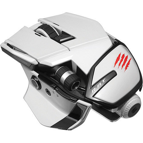 Tritton Mad Catz Office R.a.t. Wireless Mouse For Pc Mac And Android - Laser - Wireless - Bluetooth - White - USB - Notebook - Scroll Wheel - 10 Button[s] (mcb437240001-04-1)
