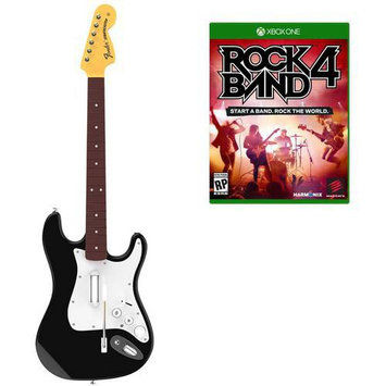 Harmonix Music Systems Rock Band 4 Wireless Fender Stratocaster Guitar Controller Bundle - Xbox One