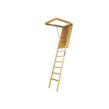 Louisville 10-ft Wood 350-lb Attic Ladder L305P