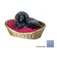 O'donnell Industries Odonnell Industries 56006 4 Wicker Basket 18 in. x 27 in. with Pillow - Medium Blue