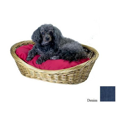 O'donnell Industries Odonnell Industries 56007 4 Wicker Basket 18 in. x 27 in. with Pillow - Denim