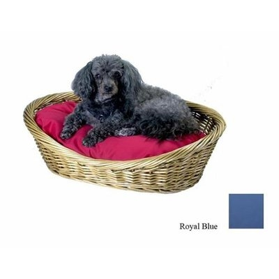 O'donnell Industries Odonnell Industries 56025 4 Wicker Basket 18 in. x 27 in. with Pillow - Royal Blue