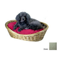O'donnell Industries Odonnell Industries 58003 10 Wicker Basket 32 in. x 40 in. with Pillow - Khaki