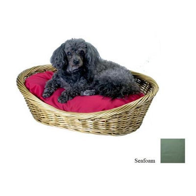 O'donnell Industries Odonnell Industries 58009 10 Wicker Basket 32 in. x 40 in. with Pillow - Seafoam