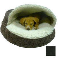 O'Donnell Industries 87687 Large Luxury Orthopedic Cozy Cave Pet Bed - Black