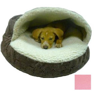 O'Donnell Industries 87695 Large Luxury Orthopedic Cozy Cave Pet Bed - Pink