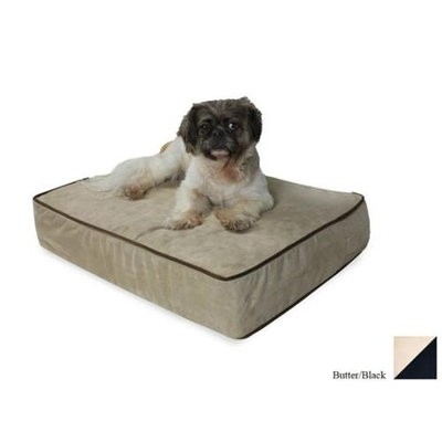 O'donnell Industries Odonnell Industries 95292 Snoozer Medium 3 in. Thick Dog Bed - Butter-Black