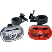 DUO Bicycle Parts BL00605W Bicycle Light 006-0.5W 3Led 2Pack