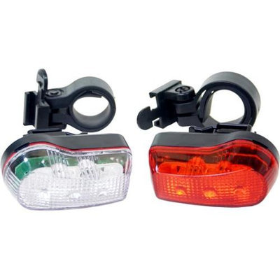 DUO Bicycle Parts BL173 Bicycle Light No. 173 3 Led 2 Pack