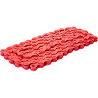 DUO Bicycle Parts BC1218CR Bicycle Chain Red 0.5 x 0.12 in.
