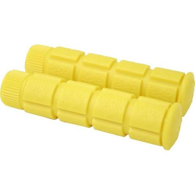 DUO Bicycle Parts 57CWG9755RY Handle Bar Grip 120mm Yellow