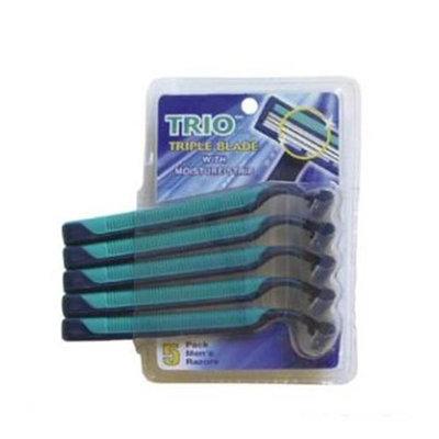 DDI 346717 5 Pk Mens Stainless Steel TRIO Triple Blade Razor