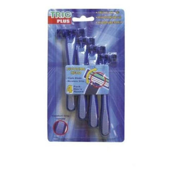 DDI 679915 4 Pack Mens Triple Blade S-S Razors