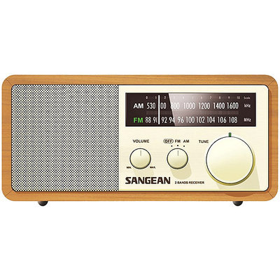 Sangean WR11 Wood Cabinet AM/FM Table Top Radio