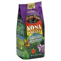 Hawaiian Gold Kona Ground Coffee Hazelnut - 10 oz