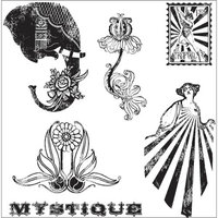 Hampton Art Graphic 45 Le Cirque Cling Stamp 4.5 X4.5 -2