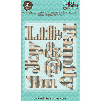 Hampton Art Jillibean Soup Stampables 24/Pkg-Corrugated Sentiments