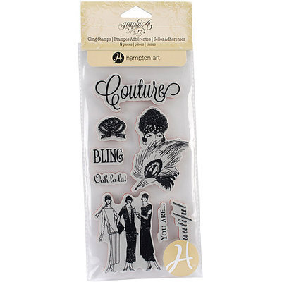 Hampton Art G45COUT-288 Graphic 45 Couture Acetate Cling Stamps-Couture 2