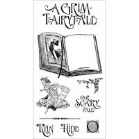 Hampton Art Graphic 45 An Eerie Tale Cling Stamps-Grim Fairytale #3